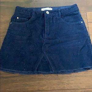Zara Navy blue kids suede mini skirt